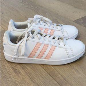 Adidas neo cloudfoam sneaker white pink 9.5